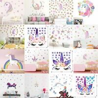 Fairy Horse Star Heart Wall Sticker Removable Girl Kid Art Nursery Room Decor GF