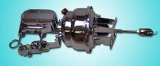 "1958 1959 1960 chevy impala brake booster master chrome 8"" dual diaphragm pv4"