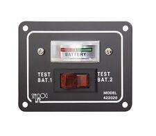 Sea Dog® Batterietestschalter Batterieanzeige Tester für 2 Batterien Schalttafel
