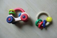 Greifling aus Holz  Greifauto und Greifring  Baby Spielzeug