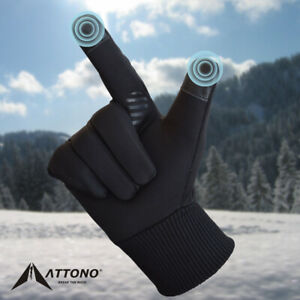 ATTONO Winterhandschuhe Touchscreen Sport Fahrrad Langlauf Softshell Handschuhe