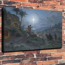 Home Decor  Art Canvas Print, Oil Painting Light of the World  12x16
