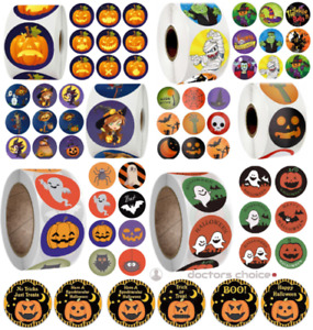 👻 Halloween Treat Christmas Gift Stickers Thank You Merry Business Labels 25mm