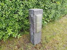 Gartensteckdose Granit Stein Stele Außensteckdose Steckdosensäule Edelstahl