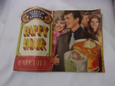 Vintage 1960's 70's Happy Hour Bar Guide Mix Drink Recipes Booklet