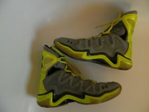 Under Armour Micro G Charge BB Mens Basketball Shoes Neon Yellow/Green Sz  8.5