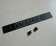 "Aluminum Black Front License Plate Delete w / ""WRX"" Logo Laser Engraved"