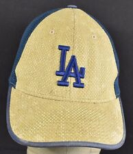 Beige Blue LA Dodgers Mesh wick Embroidered baseball hat cap adjustable snapback
