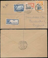 GOLD COAST PEKI REGISTERED AIRMAIL to MANCHESTER 1956
