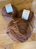 New Rowan Big Wool Silk 5+ Skeins Shade Name Book 2201 Rust Brown