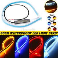 60cm Light Strip White Flexible Waterproof IP65 LED DRL Daytime Run Turn