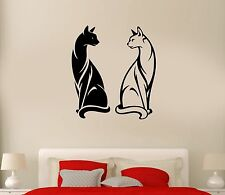 Wall Decal Cats Pet Animal Black And White Couple Yin Yan Vinyl Stickers (ed264)