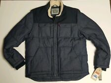 Levi's Men's Quilted Mixed Media Work Puffer Jacket Size XL LM8RP184 Retail $180