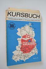 DDR Kursbuch Winterfahrplan 1980/81