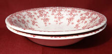 "Crown Ducal Early English Ivy (Joy) Pink 6 3/8"" Cereal Bowls Dishes- NICE!"