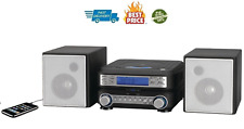 Compact Mini Stereo System Shelf Cd Player Mp3 Am/Fm Radio Speakers Remote