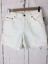 NWT Calvin Klein Sz 4 Jean Women White Metal Denim Shorts