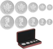 2013 Canada 9999 Silver Maple Leaf RCMINT 25th  year set 5-coins box sleeve COA