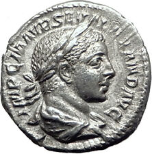 SEVERUS ALEXANDER 223AD Authentic Ancient Silver Roman Coin JUPITER i65083