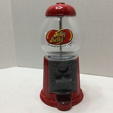 """Vintage Jelly Belly 9"""" Gumball Candy Machine Glass and Metal Construction"""