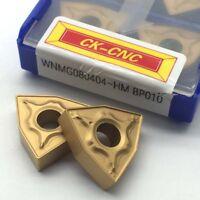 10pcs WNMG080404 HM BP010 WNMG 431 Carbide Inserts lathe turning inserts