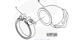 CUMMINS 6BT HX35 EXHAUST V BAND - SUITS  DODGE RAM TURBO DIESEL