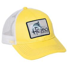 Heybo Yellow Marlin Patch Baseball Cap For Men Hat One Size Fishing NEW