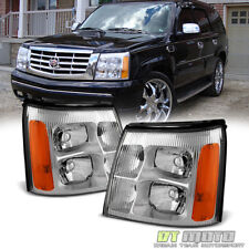 2002 Cadillac Escalade Base / Ext Replacement Headlights Headlamps Left+Right 02 (Fits: Cadillac)