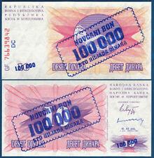 Bosnia h./bosnia H. 100.000 dinara 1993 UNC p.34 B