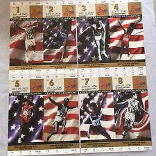 Lot:  8  2000 USA Olympic Track & Field Trials Ticket Stubs - Mint