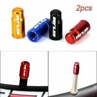 2pcs Aluminum Bicycle Tire Valve Cap Ultralight Schrader/Presta Valve Protector