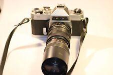 VINTAGE CHINON CS 35mm SLR FILM CAMERA WITH OPTOMAX 1:3.8 F=85~205mm LENS