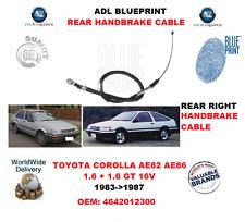 FOR TOYOTA COROLLA 1.6 + GT 16V 1983-1987 REAR RIGHT HANDBRAKE CABLE 4642012300