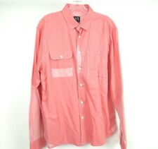 ARMANI EXCHANGE Pink Button Down Dress Shirt Men's Large [01-5.5]