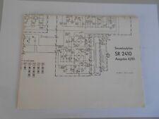 Radio Stereo Receiver SR 2410 RFT Robotron : Stromlaufplan Ausgabe 4/85