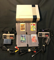 Original Nintendo NES Action Set Gray Console With Games Refurbished Tested Work