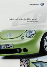 Prospekt VW New Beetle Sonderpaket Edition Sportiv 2 02 2002 brochure Auto PKWs