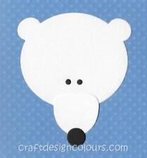 DIE CUT -  1 X POLAR BEAR HEAD (KIT)