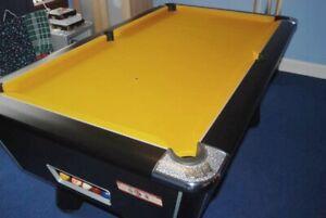 Tavolo da Biliardo Velocità Panno Oro 7x4 Qualità Piscina Letto & Cuscino
