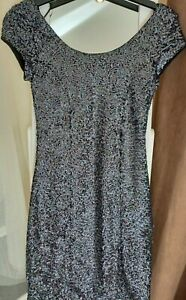 BRAND NEW SIZE 8 H&M BLACK SUPER SPARKLY ALL OVER SEQUIN DRESS NEVER WORN
