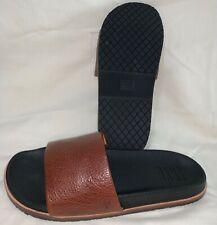 New Frye Men's Evan Slide Brown Slides Sandal Size-10.5
