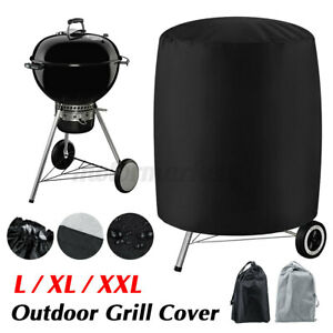 BBQ Grill Cover Barbecue Round Smoker Covers Waterproof For Garden Patio  .+