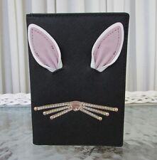 Kate Spade Imogene Rabbit Hop to It Passport Credit Card Holder Black NWT