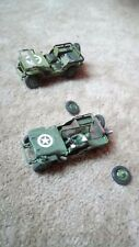 WILLYS JEEPS JOB LOT x 2 1/35 NOT PRO BUILT / MADE SPARES OR REPAIR AS SEEN
