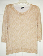 Talbots Petites Cotton Rayon 3/4 Sleeve Crew Neck Pullover Sweater XLP