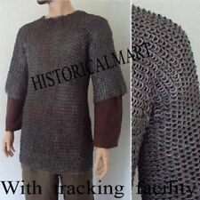 HALLOWEEN GIFT XL Flat Riveted with Washer Chainmail Shirt Chain Mail Haubergeon