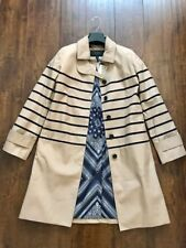 J. Crew Striped Trench Coat Size 2 NWT