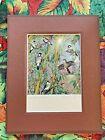 "John Romaine Signed Pencil Print Hawaii Maui 1990's ""Bamboo Cove"" 8"" x 10"""