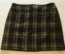 Michael Kors Multi Colored Plaid Wool-Blend Skirt Size 8