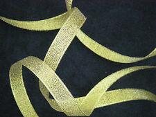 5m  DEEP GOLD 12mm Lurex Sparkle Organza Metalic Ribbon - Wedding, Christmas